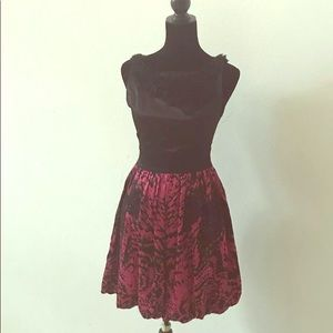 Bebe Pink and Black Dress X-Small
